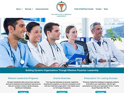 Master Web Engine | Web Design | The Institute For Medical Leadership
