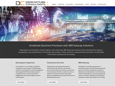 Master Web Engine | Web Design | Datacapture Consultants